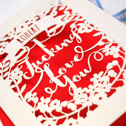 Personalised 'I Fucking Love You' Card -