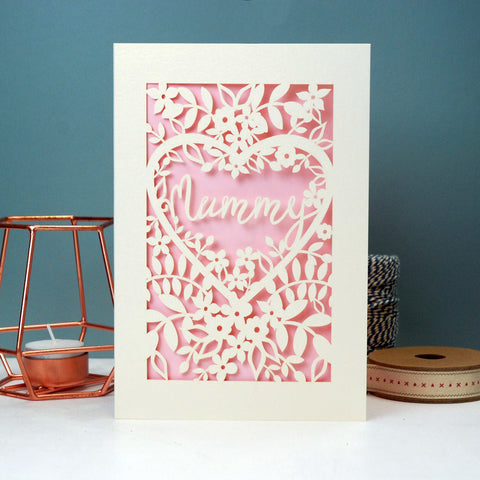 Papercut Mum, Mama Or Mummy Card