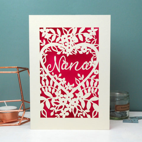 Papercut Nan, Nana, Gran Or Granny Card