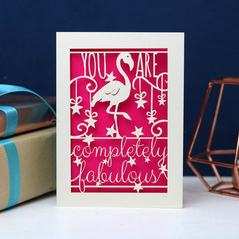 Completely Fabulous Laser Cut Card Unpersonalised