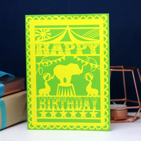 Circus Birthday Printed Card