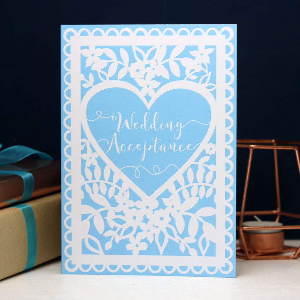 Wedding Acceptance Printed Card