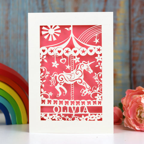 Personalised Merry Go Round Card