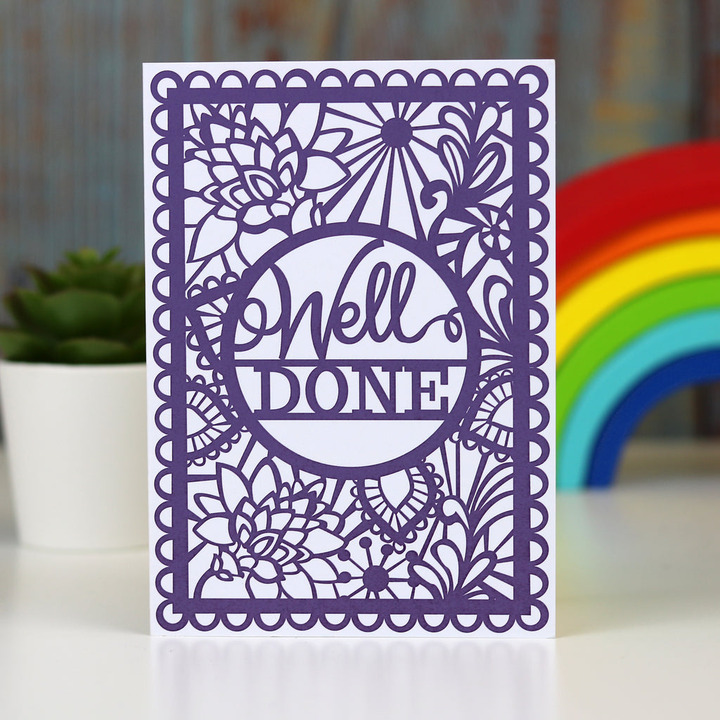 Well Done A6 Printed Card Wholesale Pack