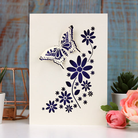 Laser Cut Butterfly Card