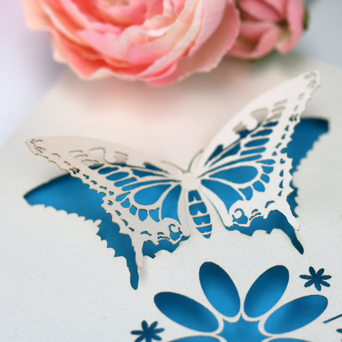 Laser Cut Butterfly Card -