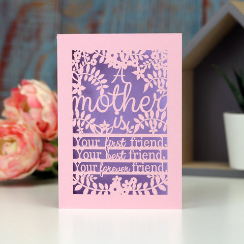Papercut Mother's Day Quote Card A6