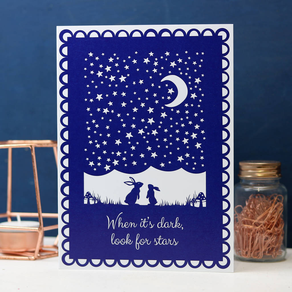 Look For Stars Sympathy Card
