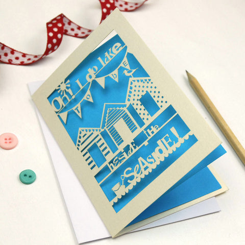 Beside The Seaside Laser Cut Greetings Card