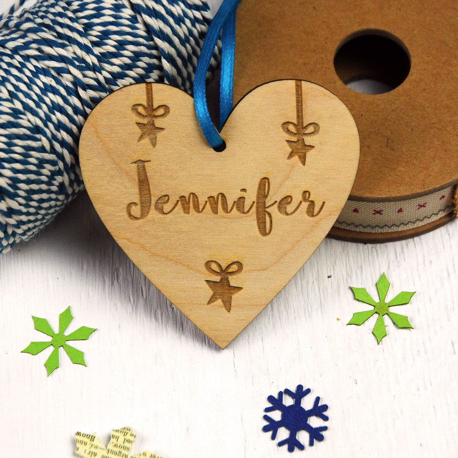 Personalised Engraved Heart Decoration