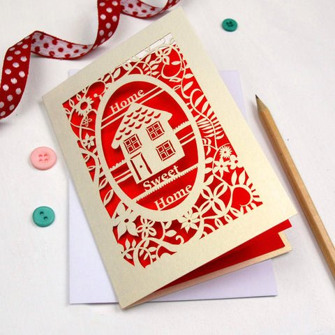 New Home Papercut Card