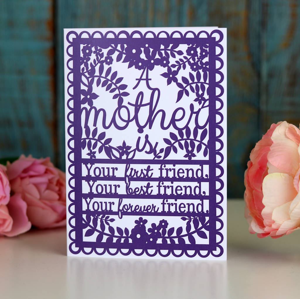 A Mother Is... Printed A6 Card