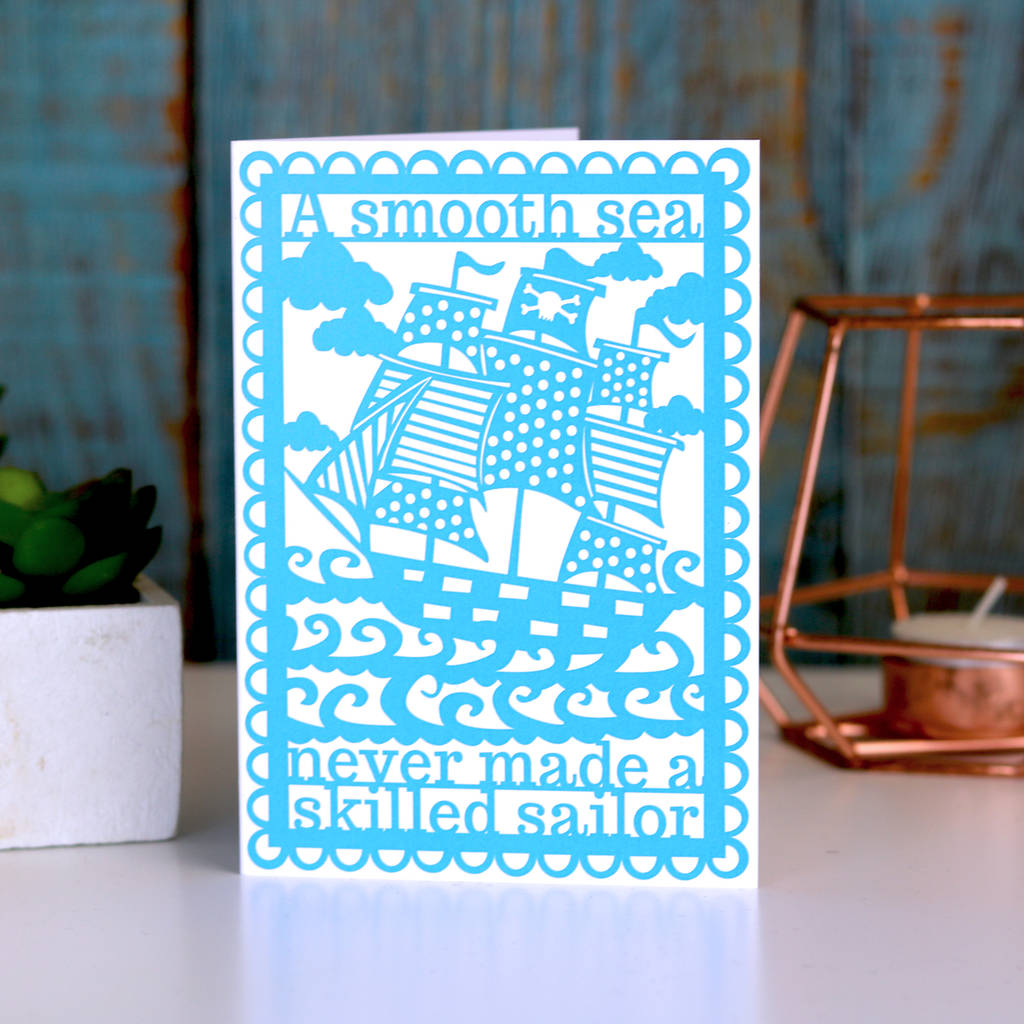 A Smooth Sea Printed Card