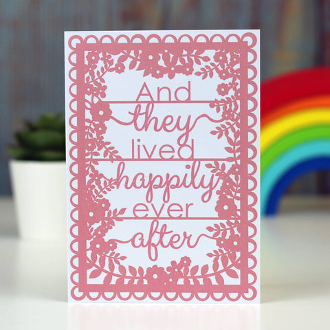 And They Lived Happily Ever After Printed Card