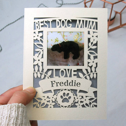 Dog Mum Mother's Day Keepsake Photo Card A5
