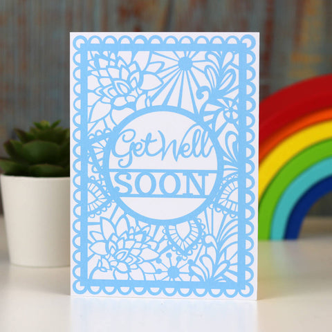 Get Well Soon Printed Card A6