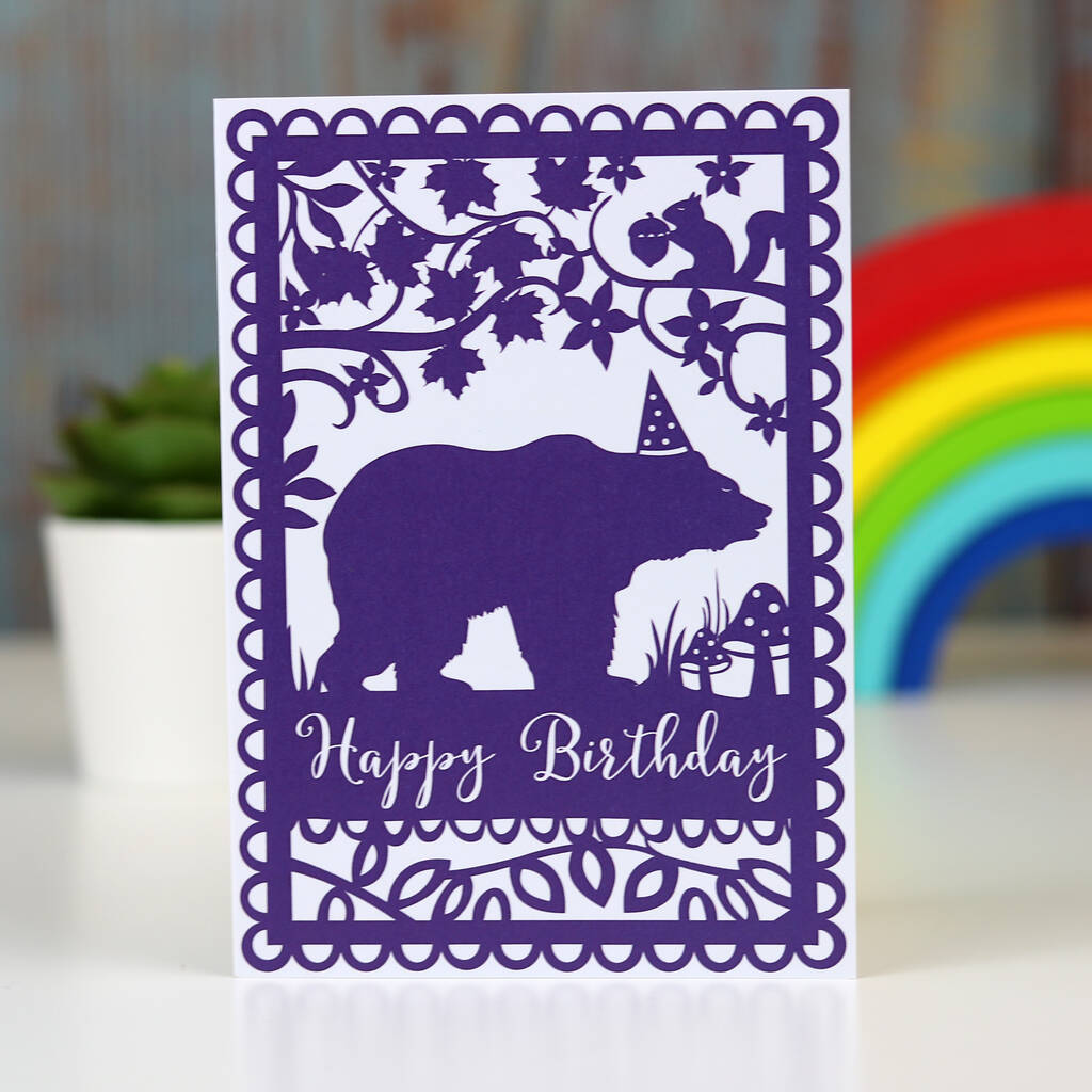 Happy Birthday Bear A6 Printed Card