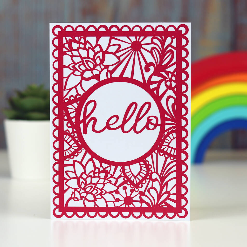 Hello Printed Card A6
