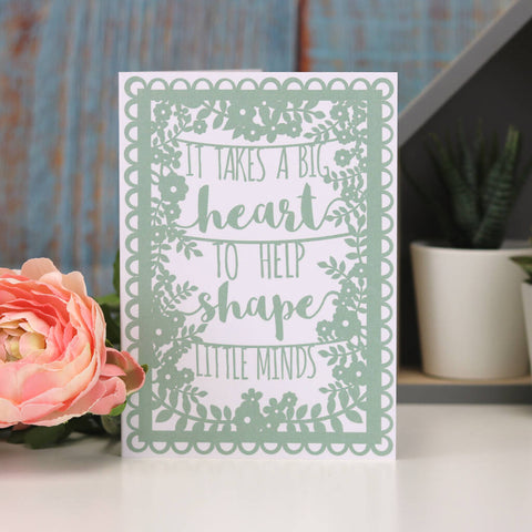 Teacher Quote A6 Green Printed Card Wholesale Pack
