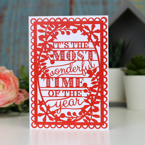 Most Wonderful Christmas A6 Printed Card Wholesale Pack