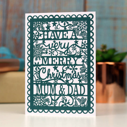 Mum and Dad Christmas A6 Printed Card Wholesale Pack