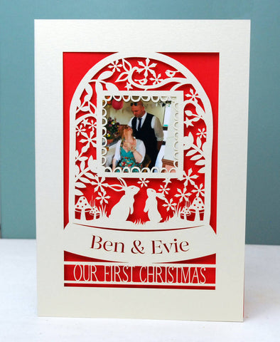 Our First Christmas Keepsake Photo A5 Card -