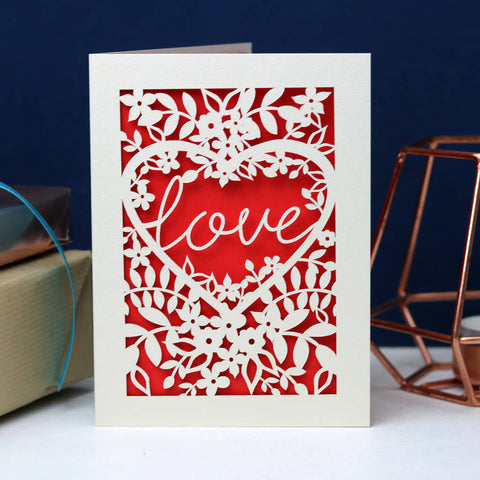 Papercut Love Card -