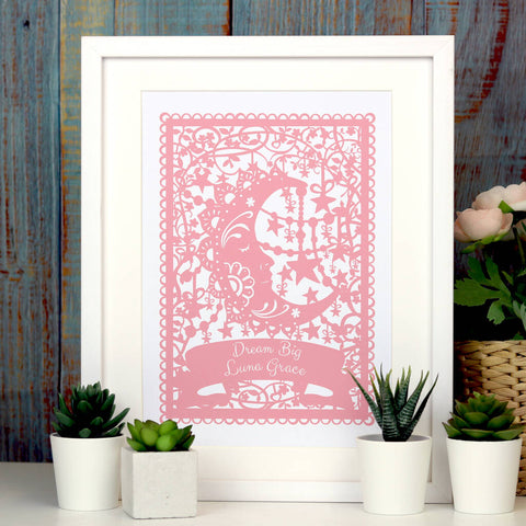 Personalised Dream Big Print A4 -