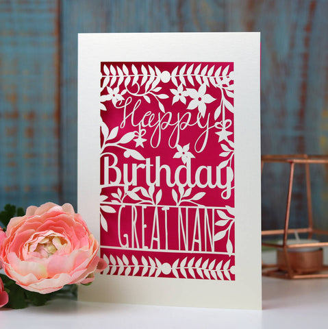 Personalised Floral Happy Birthday Card -