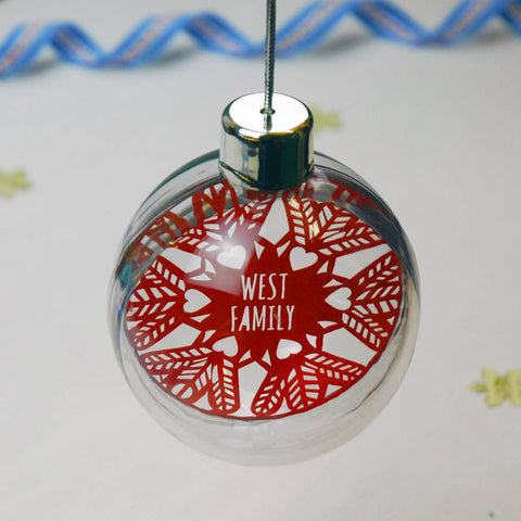 Seconds Baubles - Silver / Snowflake