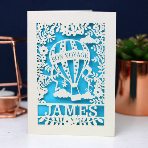 Bon Voyage Personalised Card