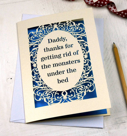 Personalised Card With Your Own Text - A5 (large) / Peacock Blue