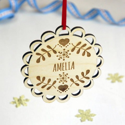 Personalised Scandi Inspired Christmas Decoration