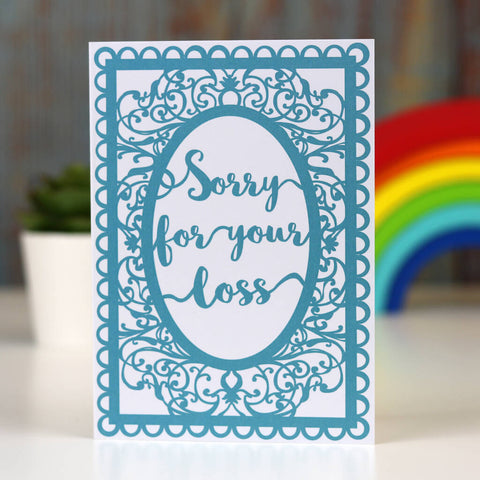 Sorry For Your Loss Sympathy Printed Card A6