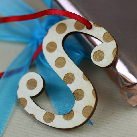 Spotty Letter Hanging Decoration - S