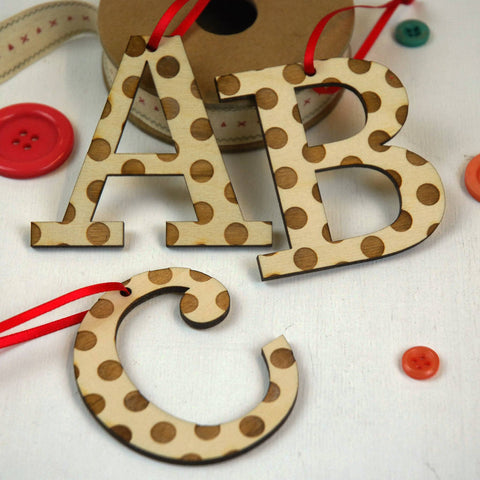 Spotty Letter Hanging Decoration
