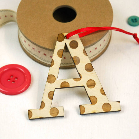Spotty Letter Hanging Decoration - A