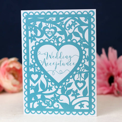 Wedding Acceptance A6 Printed Card Wholesale Pack