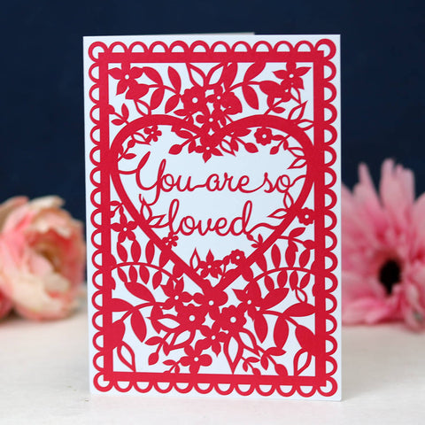 You Are So Loved A6 Printed Card Wholesale Pack