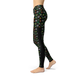 Veronica Mesh Colored Clovers Leggings - Frugal Bob's