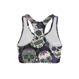 Purple Sugar Skulls Sports Bra - Frugal Bob's