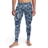 Men's Navy Camo Tights - Frugal Bob's