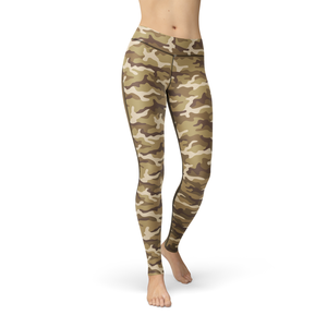 Catrina Tan Camo Leggings - Frugal Bob's