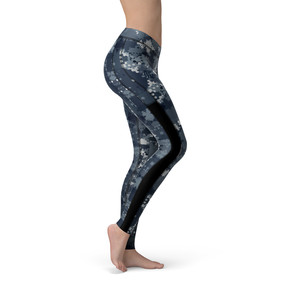 Veronica Mesh Digital Blue Camo Leggings - Frugal Bob's