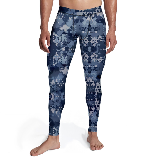 Men's Digital Blue Camo Tights - Frugal Bob's