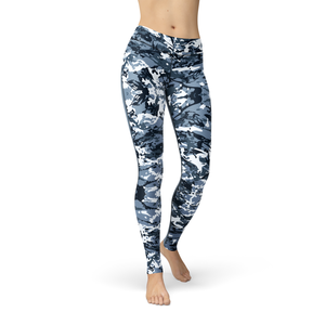 Catrina Navy Camo Leggings - Frugal Bob's