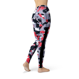 Veronica Mesh Red White Camo Leggings - Frugal Bob's