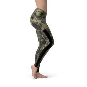 Veronica Mesh Dark Green Camo Leggings - Frugal Bob's