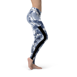 Veronica Mesh Dark Blue Camo Leggings - Frugal Bob's
