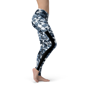 Veronica Mesh Navy Camo Leggings - Frugal Bob's